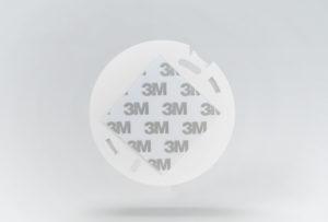 mounting bracket smoke detector 3M double-sided adhesive